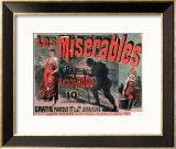 """Poster Advertising the Publication of """"Les Miserables"""" by Victor Hugo 1886 Framed Giclee Print by Jules Chéret"""