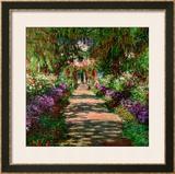 A Pathway in Monet's Garden, Giverny, 1902 Impressão giclée emoldurada por Claude Monet