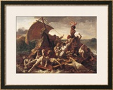 Study for the Raft of the Medusa, 1819 Impressão giclée emoldurada por Théodore Géricault
