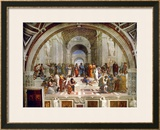 School of Athens, circa 1510-1512, One of the Murals Raphael Painted for Pope Julius II Impressão giclée emoldurada por  Raphael