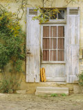 Rustic Door and Bread, Aquitaine, France, Europe Photographic Print by John Miller