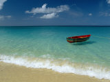 Moored Boat, Grand Anse Beach, Grenada, Caribbean Photographic Print by John Miller