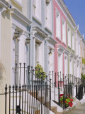 Terraced Houses and Wrought Iron Railings, Kensington, London, England, UK Photographic Print by Mark Mawson