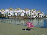 Beach at Puerto Banus Near Marbella, Costa Del Sol, Andalucia, Spain Reproduction photographique par Fraser Hall