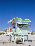 South Beach Lifeguard Station, Art Deco, Miami Beach, Florida, USA Photographic Print by Fraser Hall