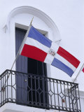 National Flag, Dominican Republic, Caribbean, West Indies Photographic Print by Guy Thouvenin