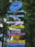 Signpost, Freeport, Grand Bahama, Bahamas, Central America Reproduction photographique par Ethel Davies