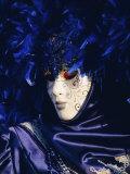 Person Wearing Masked Carnival Costume, Venice Carnival, Venice, Veneto, Italy Photographic Print by Bruno Morandi