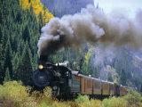 Steam Train, Durango & Silverton Railroad, Silverton, Colorado, USA Fotografie-Druck von Jean Brooks