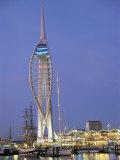 Spinnaker Tower at Twilight, Gunwharf Quays, Portsmouth, Hampshire, England, United Kingdom, Europe Reproduction photographique par Jean Brooks