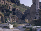 Ruins of Pompeii, Destroyed in Volcanic Eruption of Ad 79, Pompeii, Campania, Italy Impressão fotográfica por Walter Rawlings