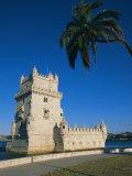 The 16th Century Belem Tower (Torre De Belem), Designed by Francisco Arruda, Lisbon, Portugal Photographic Print by Alain Evrard