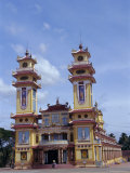Cao Dai Temple, Synthesis of Three Religions, Confucianism, Vietnam, Indochina Reproduction photographique par Alison Wright