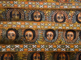 Painting of the Winged Heads of 80 Ethiopian Cherubs, Debre Berhan Selassie Church, Ethiopia Fotografisk tryk af Gavin Hellier