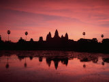 Sunrise at Angkor Wat, Siem Reap Province, Cambodia Photographic Print by Gavin Hellier