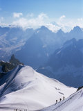 View from Mont Blanc Towards Grandes Jorasses, French Alpes, France Photographic Print by Upperhall Ltd