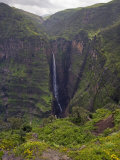 Dramatic Waterfall Near Sankaber, the Ethiopian Highlands, Ethiopia Fotografisk tryk af Gavin Hellier