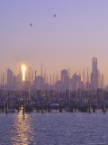 St. Kilda Harbour and Melbourne Skyline, Melbourne, Victoria, Australia, Pacific Photographic Print by Jochen Schlenker