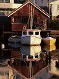 Sundown Over South Harbour, Village of Fjallbacka, Bohuslan, Sweden, Scandinavia, Europe Photographic Print by Kim Hart