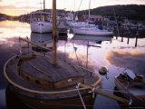Sundown Over South Harbour, Hamburgsund, Bohuslan, Sweden, Scandinavia, Europe Photographic Print by Kim Hart