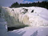 Tannfors, a 32M High, 60M Wide Frozen Waterfall, Near Are, Jamtland, Sweden, Scandinavia, Europe Photographic Print by Kim Hart