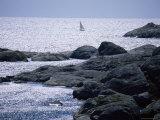Sailing off Koster Archipelago, Bohuslan, Sweden, Scandinavia, Europe Fotografisk tryk af Kim Hart