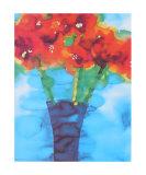 Blue Vase Poster by Lisa V. Keaney
