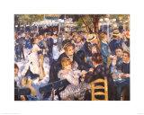 Le Moulin de la Gallette Posters by Pierre-Auguste Renoir