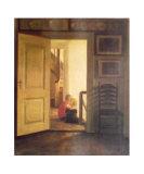 Children in Interior Affischer av Carl Holsoe
