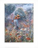 Rosie in the Poppygarden II Print by Paula Nightingale