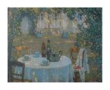Tea on the Terrace Prints by Henri Eugene Augustin Le Sidaner
