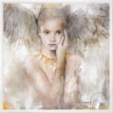 愛は真実の中に 額入りキャンバスプリント : エルヴィラ・アムライン