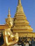 Wat Phra Kaeo, Grand Palace, Bangkok, Thailand, Asia Photographic Print by Bruno Morandi