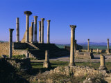 Roman Archaeological Site, Volubilis, Meknes Region, Morocco, North Africa, Africa Photographic Print by Bruno Morandi