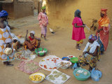 Bambara Women in the Market, Segoukoro, Segou, Mali, Africa Photographic Print by Bruno Morandi
