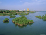 River Niger, Bamako, Mali, Africa Fotografisk trykk av Bruno Morandi