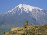Khorvirap (Khor Virap) Monastery and Mount Ararat, Armenia, Central Asia, Asia Photographic Print by Bruno Morandi