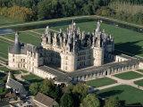 Aerial View of the Chateau of Chambord, Loir Et Cher, Region De La Loire, Loire Valley, France Photographic Print by Bruno Morandi