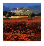 Summer, Aix Provence Stampe di John Horswell