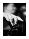 Bassist 1 BW Reproduction photographique par John Gusky