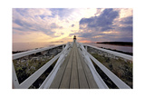 Boardwalk of Marshall Point Lighthouse Photographic Print by George Oze