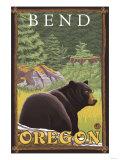 Black Bear in Forest, Bend, Oregon Póster por  Lantern Press
