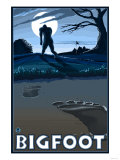 Big Foot walking through Golf Course Poster by  Lantern Press