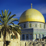 The Dome of the Rock, Muslim Shrine on Temple Mount, Jerusalem, Israel Photographic Print by G Richardson