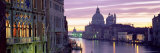 Dusk Along Grand Canal Towards Santa Maria Della Salute from Accademia Bridge, Veneto, Italy Fotografisk tryk af Lee Frost