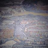 Madaba Mosaic Map  6th Century AD  Detail Showing Jerusalem  Madaba  Jordan  Middle East