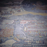 Madaba Mosaic Map, 6th Century AD, Detail Showing Jerusalem, Madaba, Jordan, Middle East Impressão fotográfica por Christopher Rennie