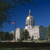 Exterior of the Georgia State Capitol Building, Atlanta, Georgia, United States of America (USA) Photographic Print by G Richardson