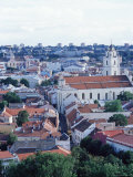 View Over Old Town, Unesco World Heritage Site, from Castle at Gedminas Hill, Vilnius, Lithuania Photographic Print by Yadid Levy