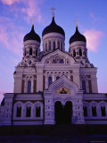 The Russian Orthodox Alexander Nevsky Cathedral in Toompea, Estonia, Baltic States Photographic Print by Yadid Levy